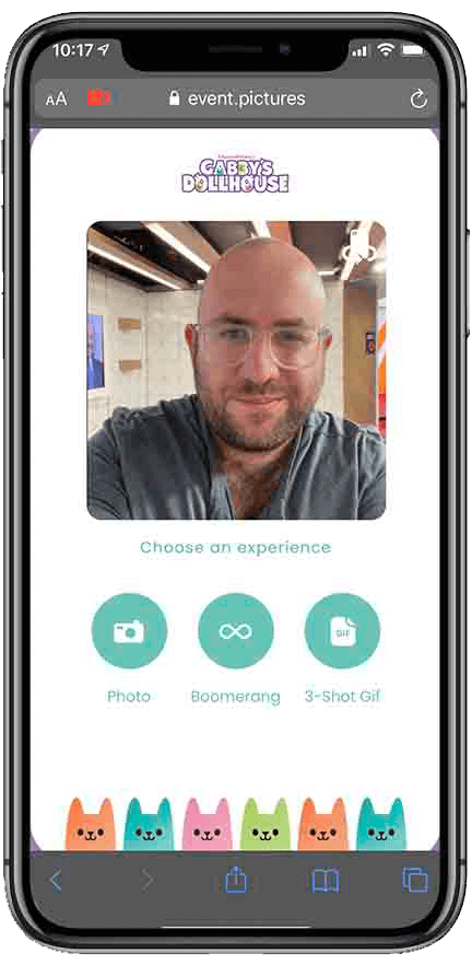 virtual photo booth experience selection